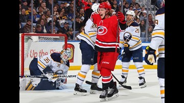Teravainen OT goal lifts Hurricanes to 6-5 win over Sabres