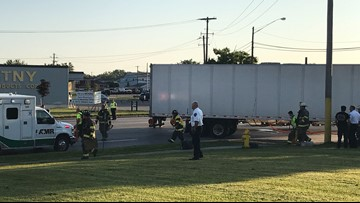 Walden Ave accident involves tractor trailer and motorcycle