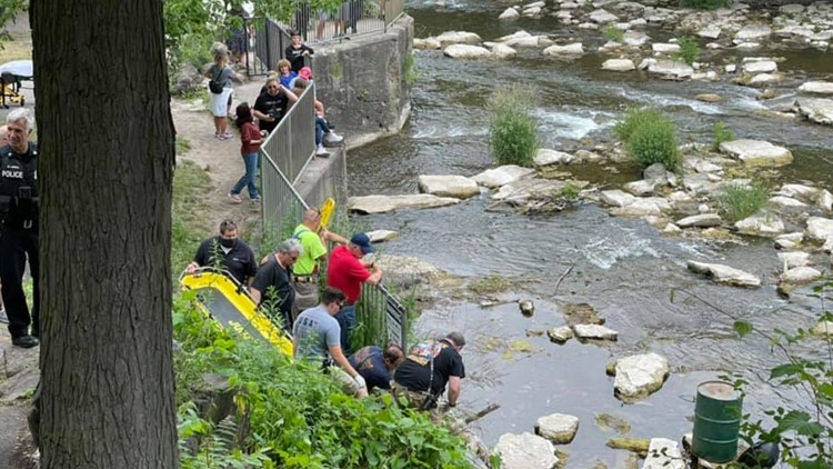 Man rescued after falling 15 feet at Glen Falls in Williamsville