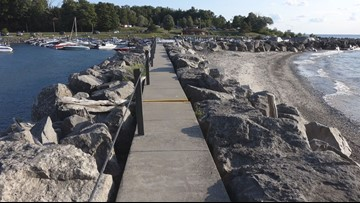 Sturgeon Point Marina breakwall project underway in Evans