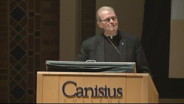 Scharfenberger attends first public event since Buffalo appointment