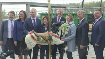 Carousel Groundbreaking At Canalside