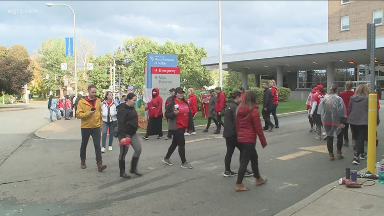 CWA now paying workers on strike outside Mercy Hospital