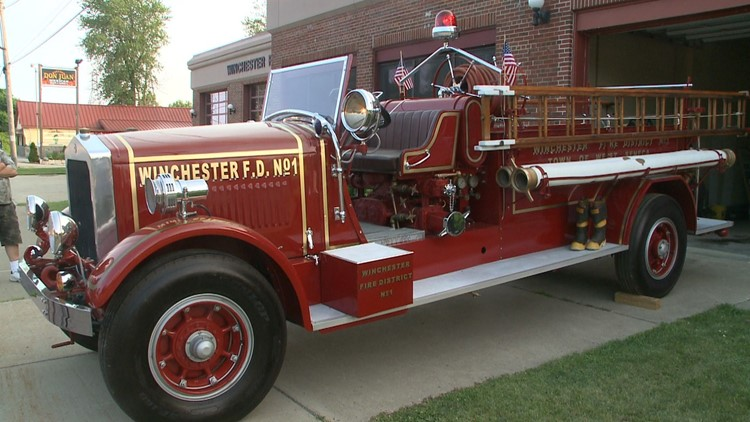 Winchester Volunteer Fire Company's refurbished fire engine