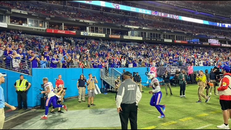 Social media paints picture of the Bills' game in Nashville