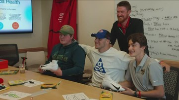 My Cause, My Cleats: Josh Allen meets teens who helped created his game-day shoes