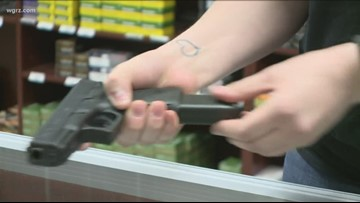 New York gun rights advocates protest checks, Red Flag Law