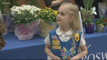 WNY's Great Kids: Abby hands out chocolate bars at Roswell Park