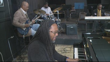 Jamming with local musicians in Buffalo