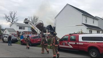 Buffalo Firefighters battle blaze on Harlow Place
