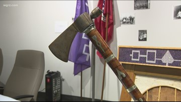 Chief Cornplanter's tomahawk returns to Seneca Nation for display