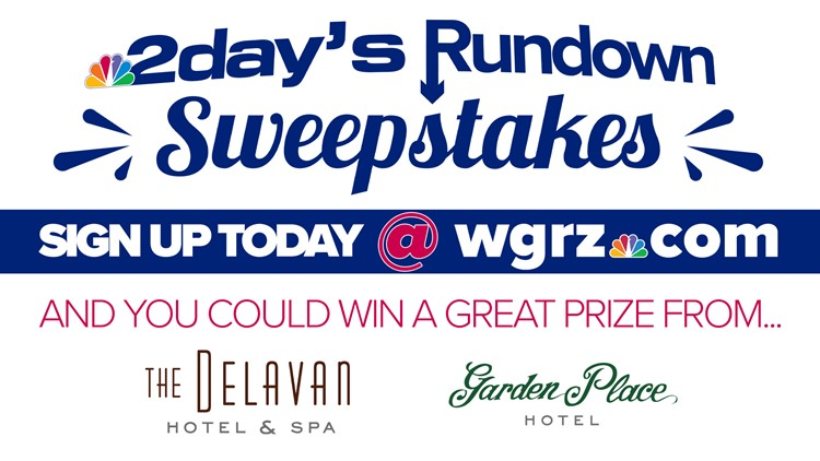 Sign up for 2day's Rundown and you could win a prize from The Delavan Hotel & Spa or The Garden Place Hotel