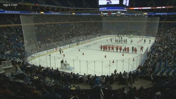 Sabres put on show for fans during annual skills challenge