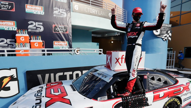 Harrison Burton wins at Homestead-Miami Speedway