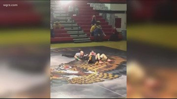 Wrestlers Make  Classmate's Dream Come True