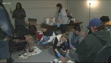 University at Buffalo students take to streets, help homeless