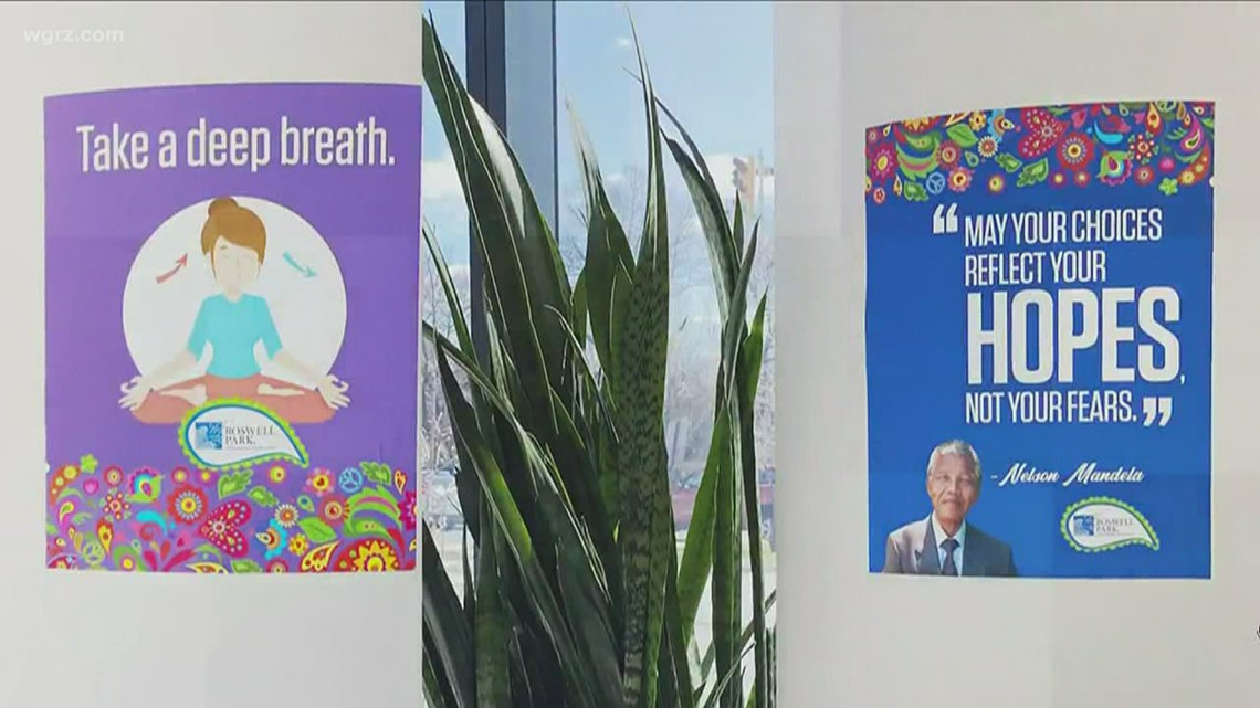 Roswell Park adds inspiring messages to outdoor space on campus
