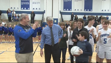 Frontier gives Domzalski great send-off