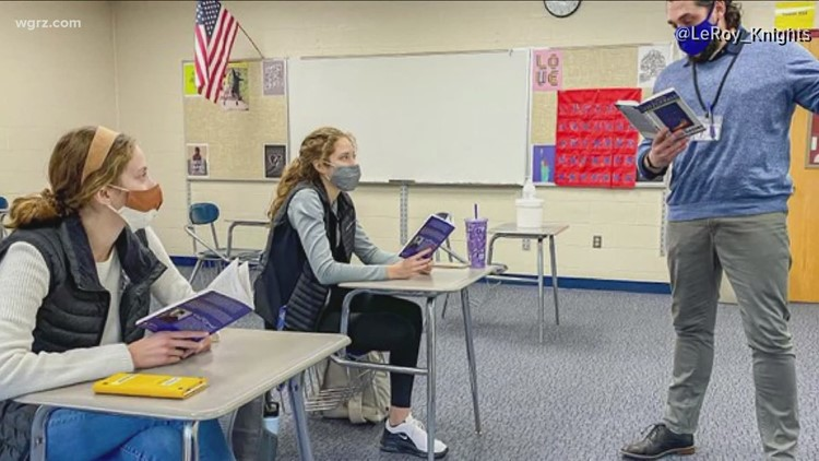 Twin sisters are the only two students in their A.P. Literature class at LeRoy High School