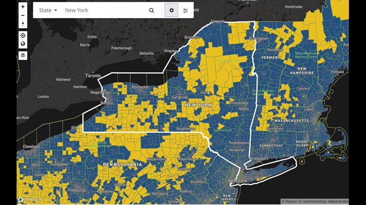 NYS broadband coverage without satellite