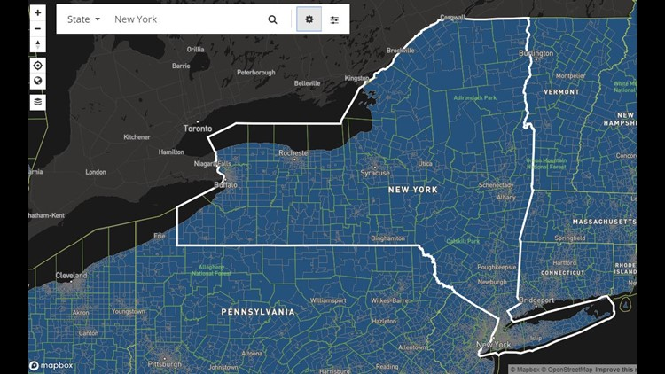 NYS broadband coverage with satellite as an option