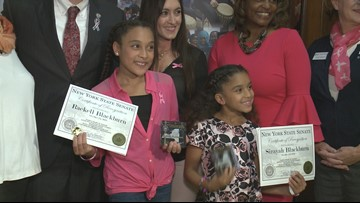 Lackawanna sisters receive award for raising money for the American Cancer Society