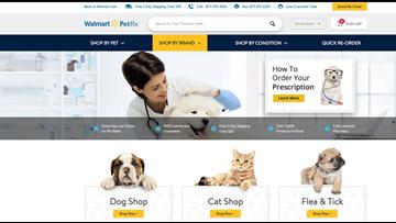 Walmart launching online pet pharmacy