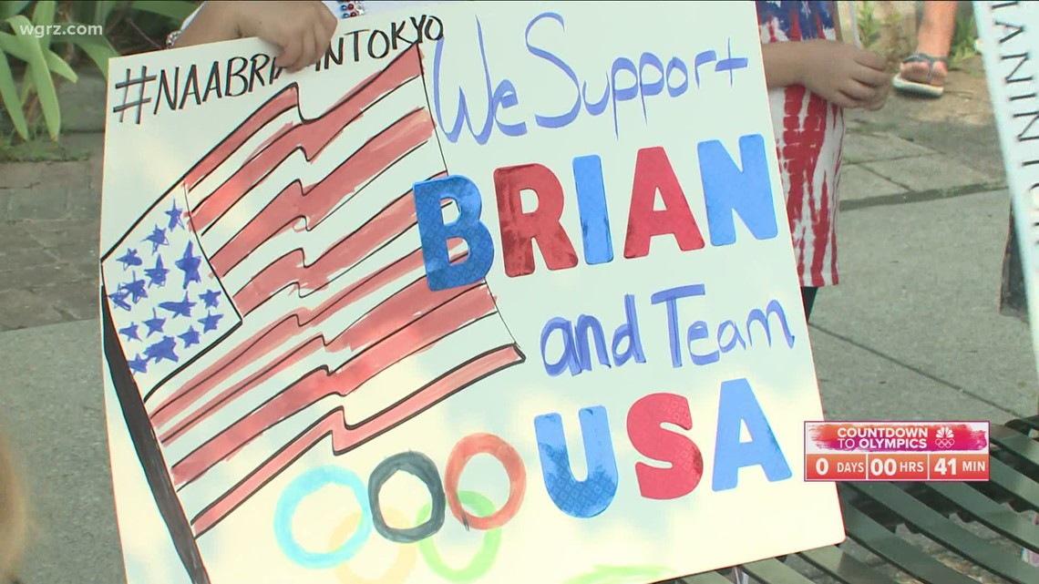 Hometown pride and a show of support for Olympian Brian Irr