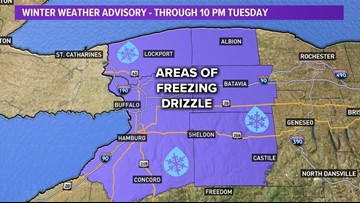 Icy roads possible Tuesday evening