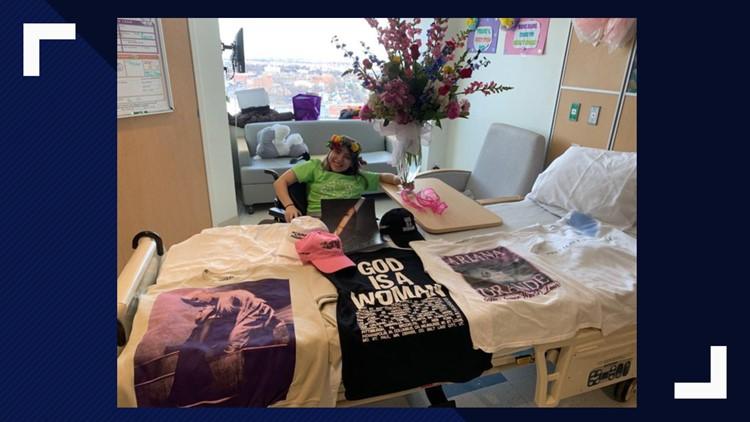 Ariana Grande sends fan in hospital flowers, autographed merchandise