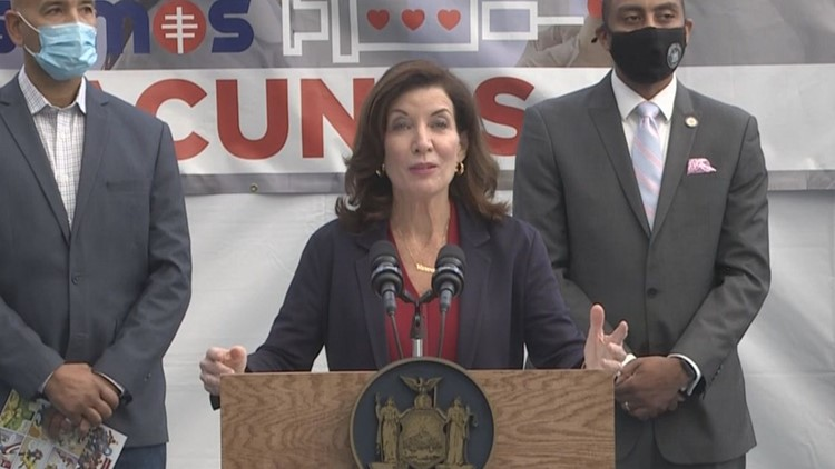 Gov. Hochul gives COVID-19 update