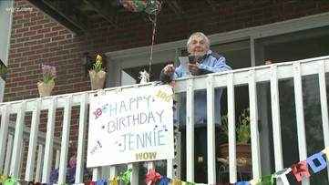Williamsville woman enjoys 100th birthday with surprise parade