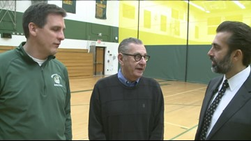 Beloved basketball referee returns to Williamsville North to thank those who saved his life