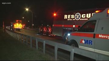 Crash on Route 33/Oak Street Exit
