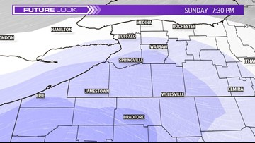 Widespread, steady snow arrives later Sunday