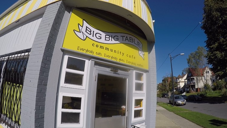 A new café opens in Buffalo's giving people the option on how much to pay