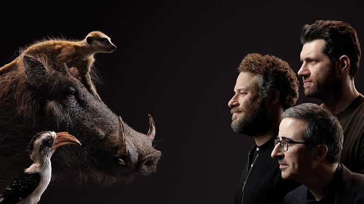 Seth Rogen, John Oliver, and Billy Eichner in The Lion King (2019)
