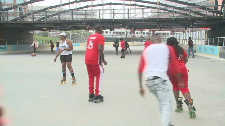 Last weekend to take advantage of new Roller Rink at Canalside