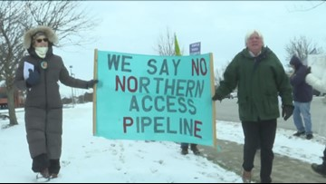 Protest against Northern Access pipeline