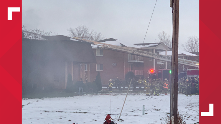 2 injured, 13 displaced following apartment fire in Lockport