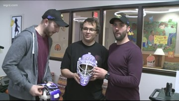 Sabres visit Roswell Park ahead of Hockey Fights Cancer Night