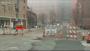 Crews begin paving Allen Street in Buffalo