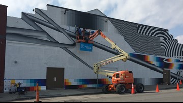 New mural goes up in downtown Buffalo, courtesy of Albright-Knox