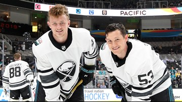 the latest 8665c fbe8d Jack Eichel and Jeff Skinner score in NHL All-Star Game ...