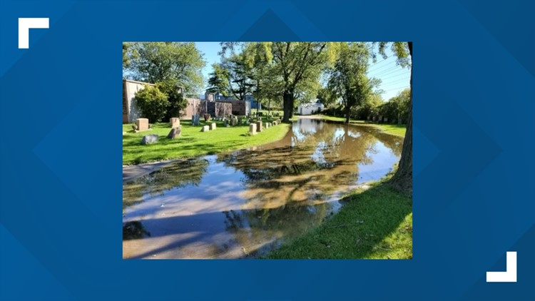 Flooding issues at St. Adalbert's Cemetery