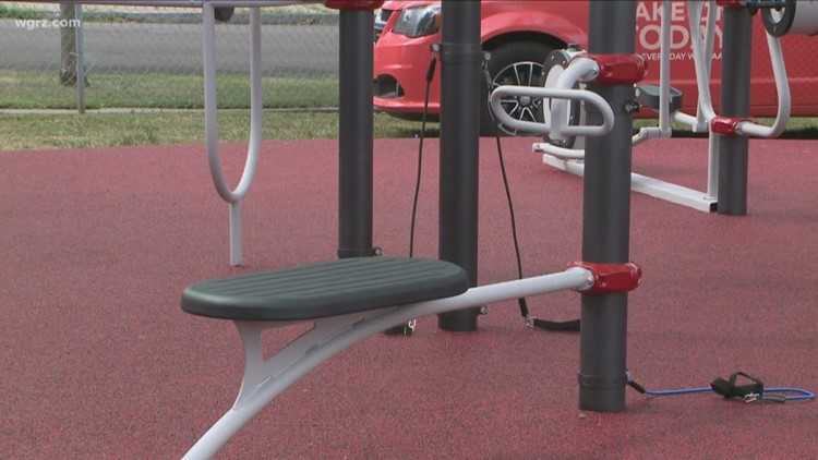 AARP Opens Outdoor Fitness Park In Buffalo