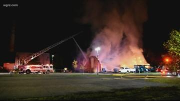 Fire Destroys Building At Deveaux Woods Park