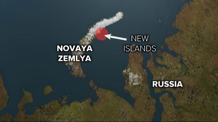 Russian arctic map