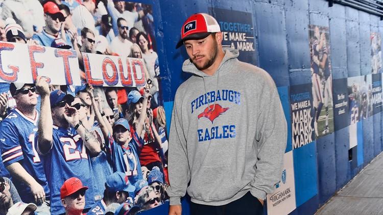 Sales of Josh Allen's hoodie raised $100,000 for his former high school