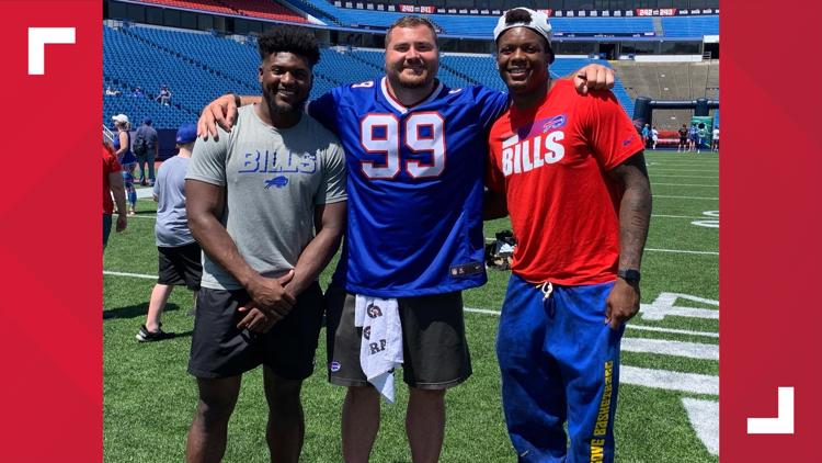 Young Bills fans flock to Highmark Stadium for Phillips' Playmakers camp